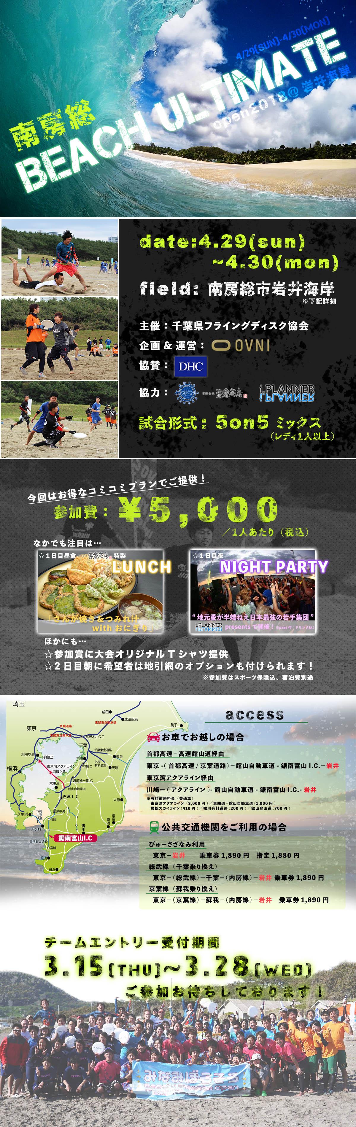 2018岩井海岸 協賛DHC